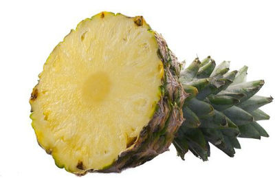 Whole Pineapple sliced in half