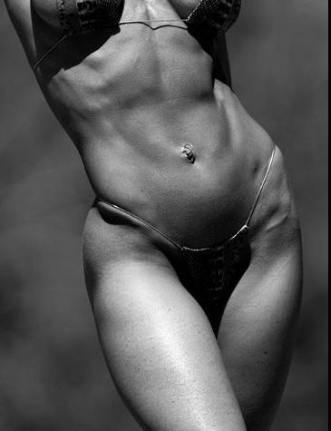 Flatten Tummy Girl in Bikini
