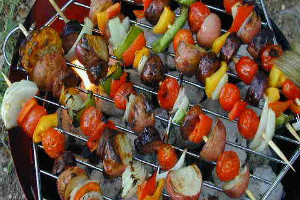 Grilled Pork and Vegetables
