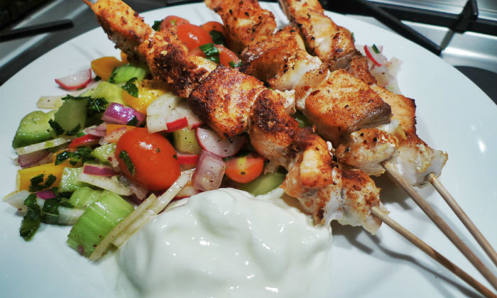 Spicy Fish kabob recipe