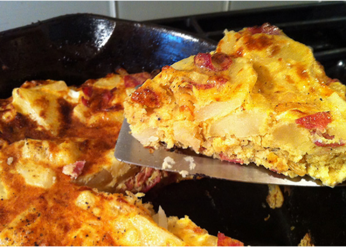 Frittata with Pancetta and Potatoes recipe