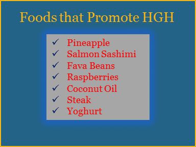 foods that promote hgh