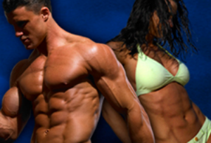 male and female ripped abs