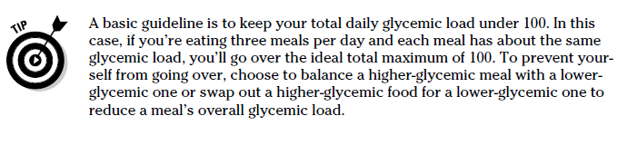 Glycemic Index Tip - Daily load under 100