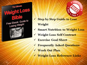 The weight loss bible ebook