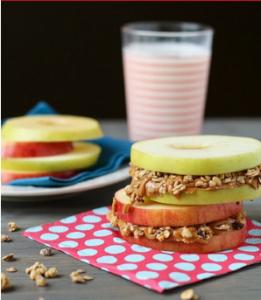 Apple Granola sandwich recipe