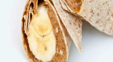 Banana peanut butter wrap recipe