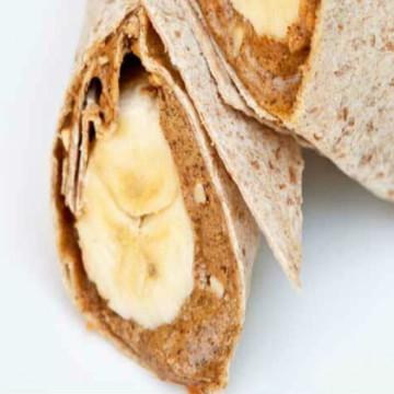Banana peanut butter wrap recipe