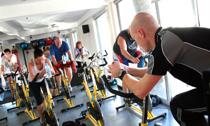 cycle class for a cardio workout