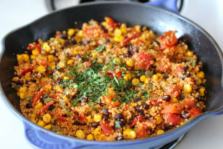 One pan mexican quinoa recipe