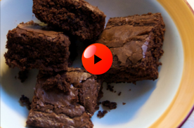 A video of how to make protein brownies