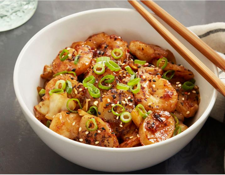 spicy shrimp in a bowl