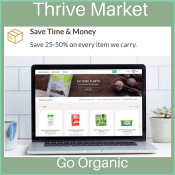 Thrive Market order from homee